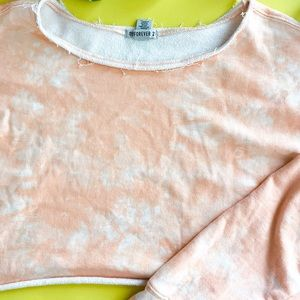 Forever21 - Light Pink Tie Dye- Cropped Sweater